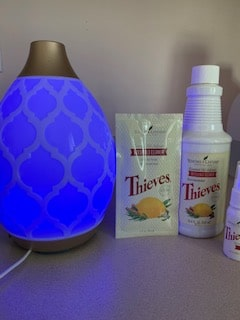 Thieves Essential oil cleaner and diffuser