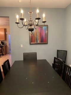 Dinning Room with Chandelier