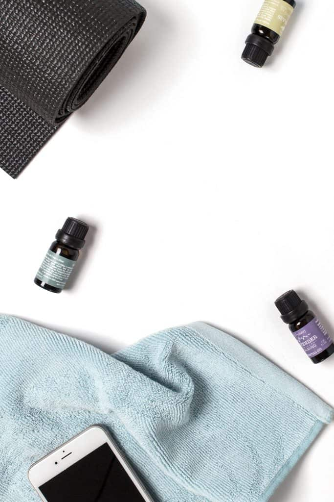 using essential oils and working out