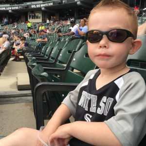 Toddler boy in sunglasses
