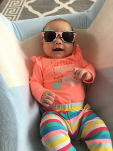 baby wearing sunglasses