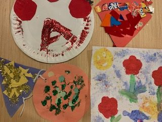 Children's school artwork