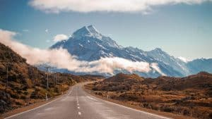road with mountain view