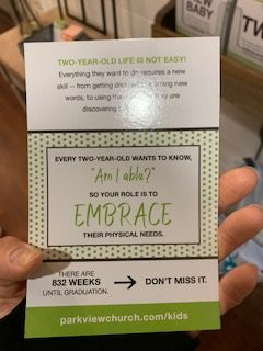 Flash cards on Intentional Parenting
