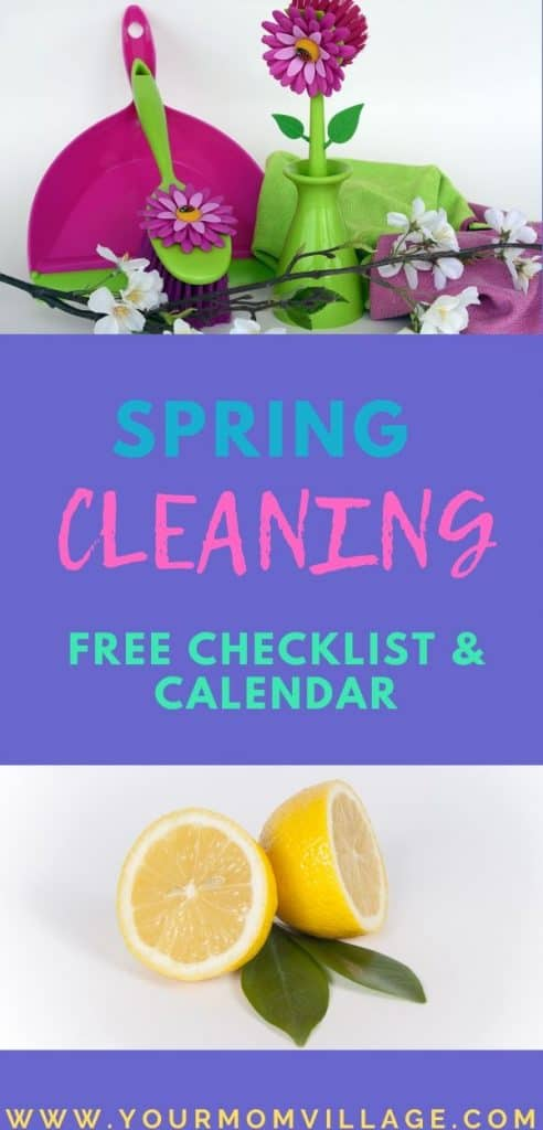 Spring Cleaning tips with printable Checklist & Calendar