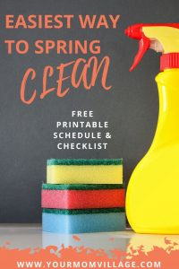 Ultimate Spring Cleaning Checklist, schedule, tips and hacks