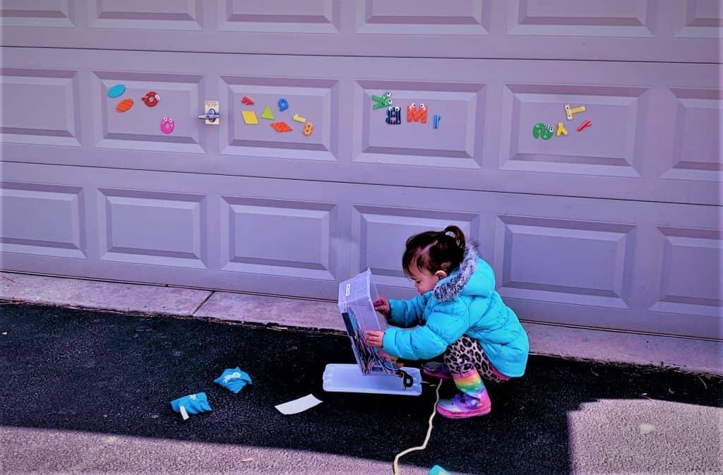 outdoor fun activities on garage door