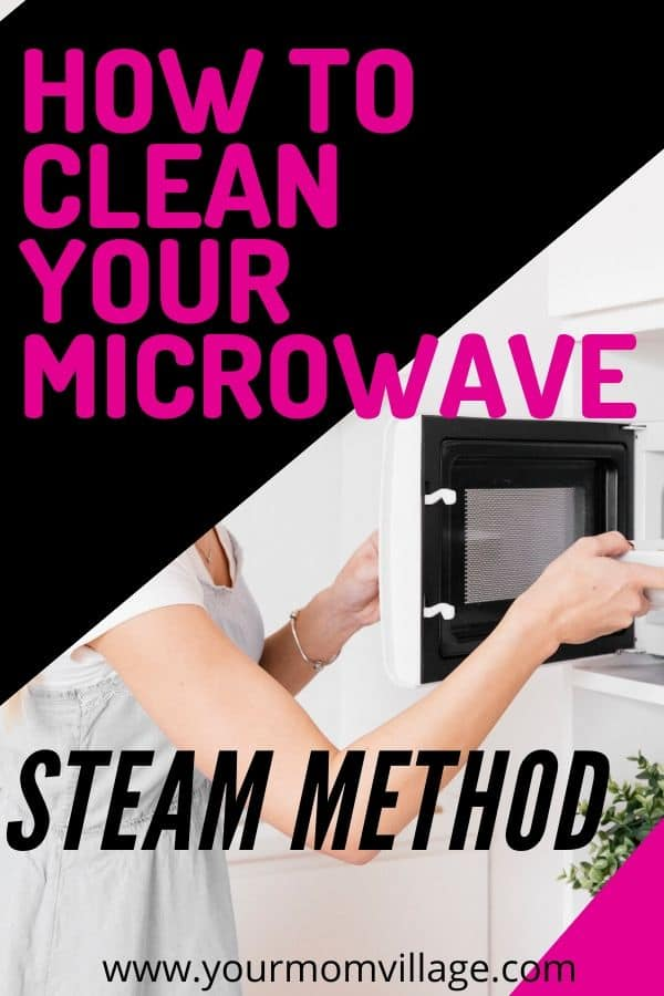 how to clean your microwave with the steam method