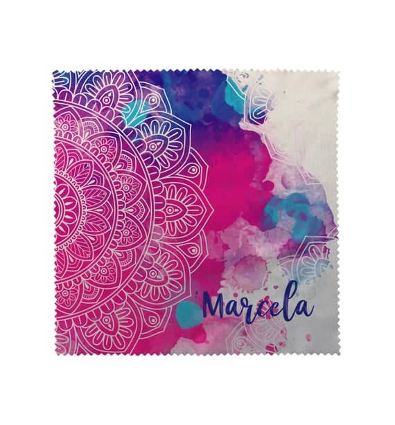 Personalized Pink & Blue Mandala Watercolor Collection Eyeglass Cleaner Lens Cloth /Eyeglass Cleaner Lens / Lens Cloth and Phone Cleaner