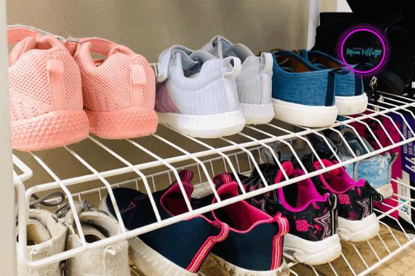 Organized shoe rack