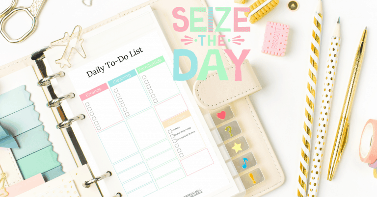 Instantly Transform your day with this productivity printable for Stay at home moms