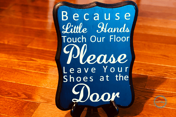 How do you get people to take their shoes off at the door without feeling weird?