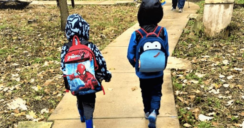 Boys wearing backpacks