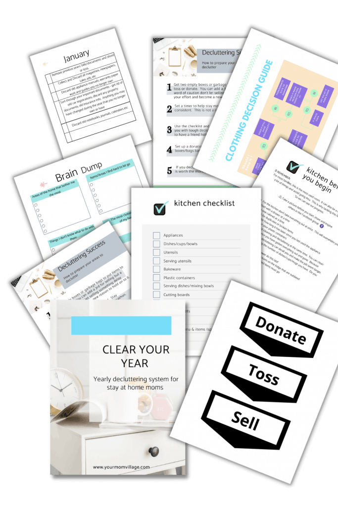 Decluttering ebook pages