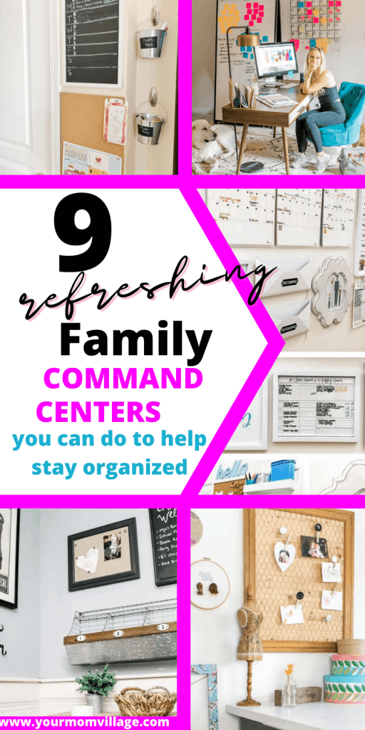 Pinterest pin with pictures of command centers