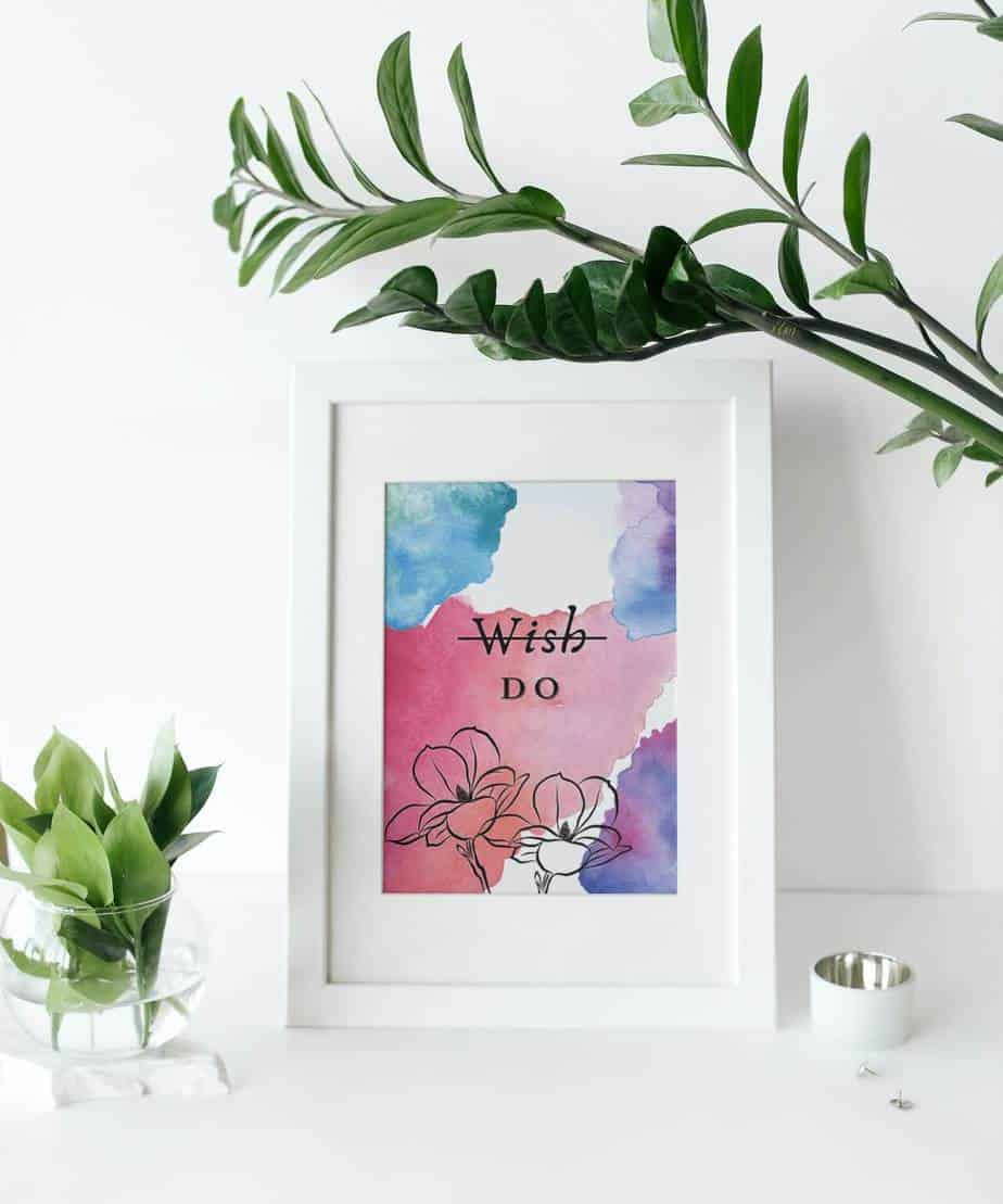 4 Cute watercolor inspiring wall art quotes prints