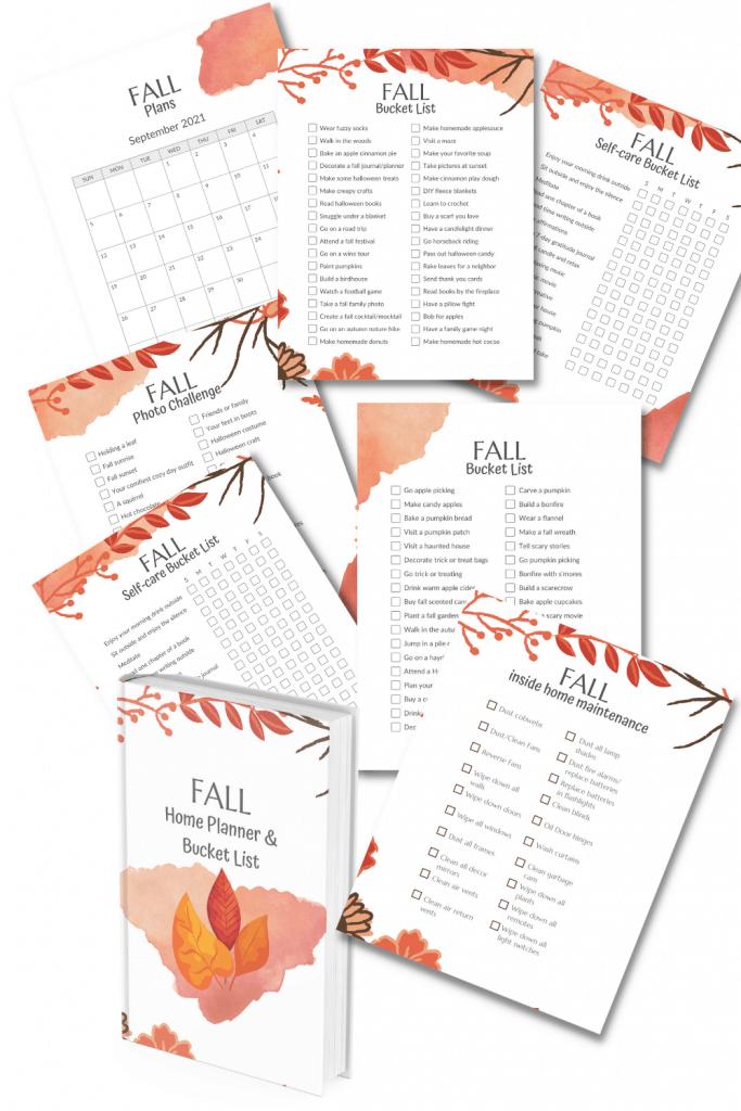 printable fall planner