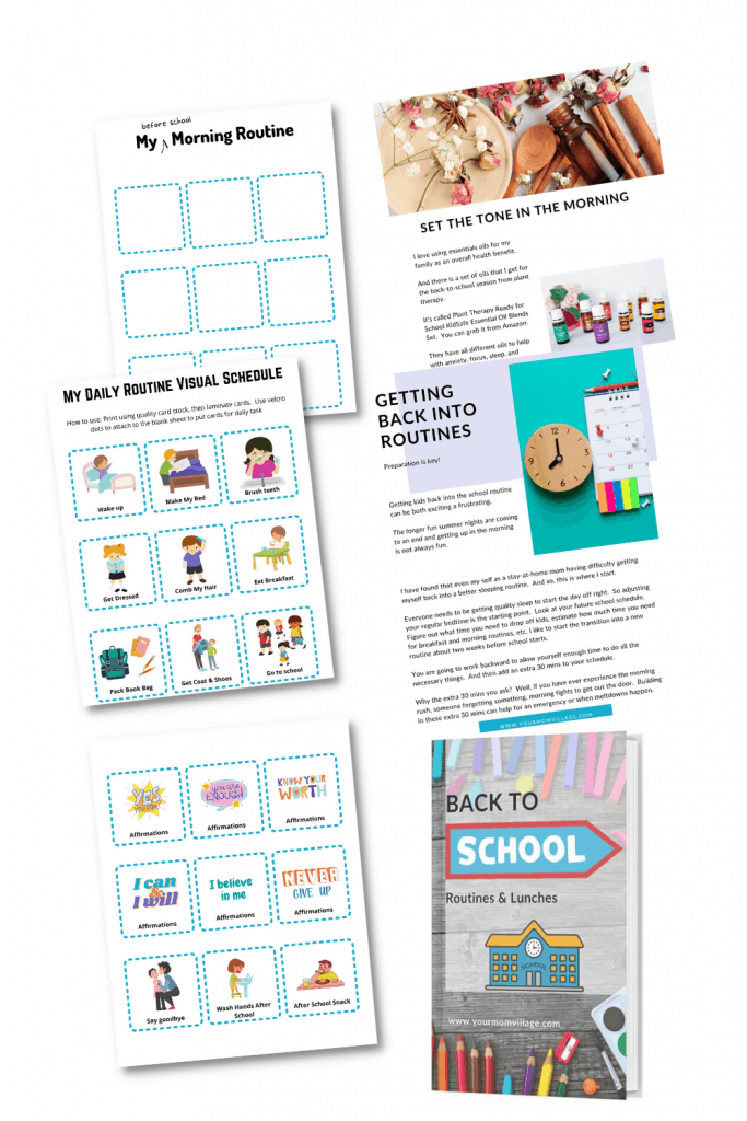 Printable routine cards for kids